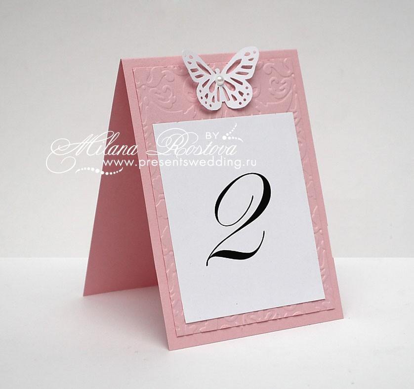Нумерация на стол на свадьбу
