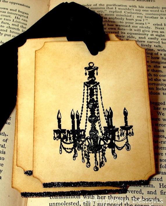 Ярлычки на дерево пожеланий Старинная люстра