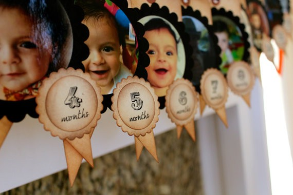 Гирлянды с фотографиями ребенка своими руками