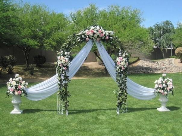 Iron arches wedding