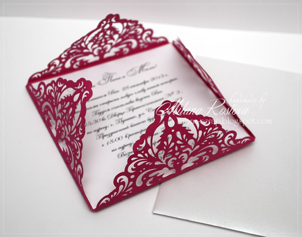 Свадебные приглашения конверты